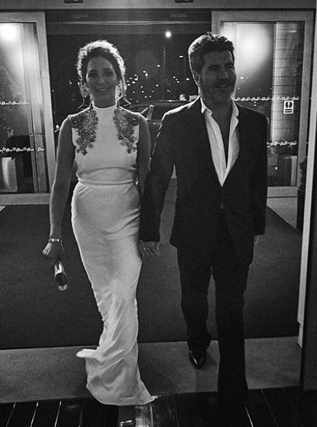 Simon Cowell and Lauren Silverman Brit Awards