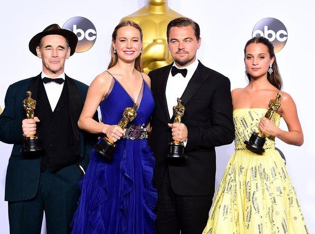 Mark Rylance, Brie Larson, Leonardo DiCaprio and A