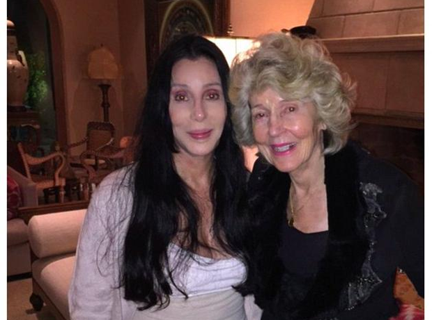 Cher with her mother