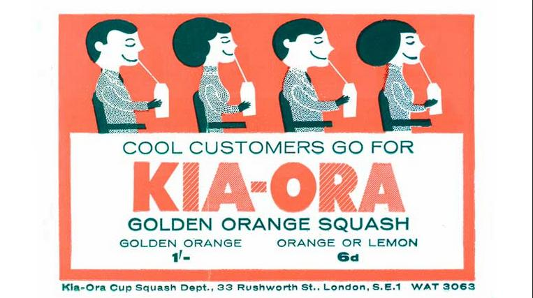 Kia-Ora retro drink '60s