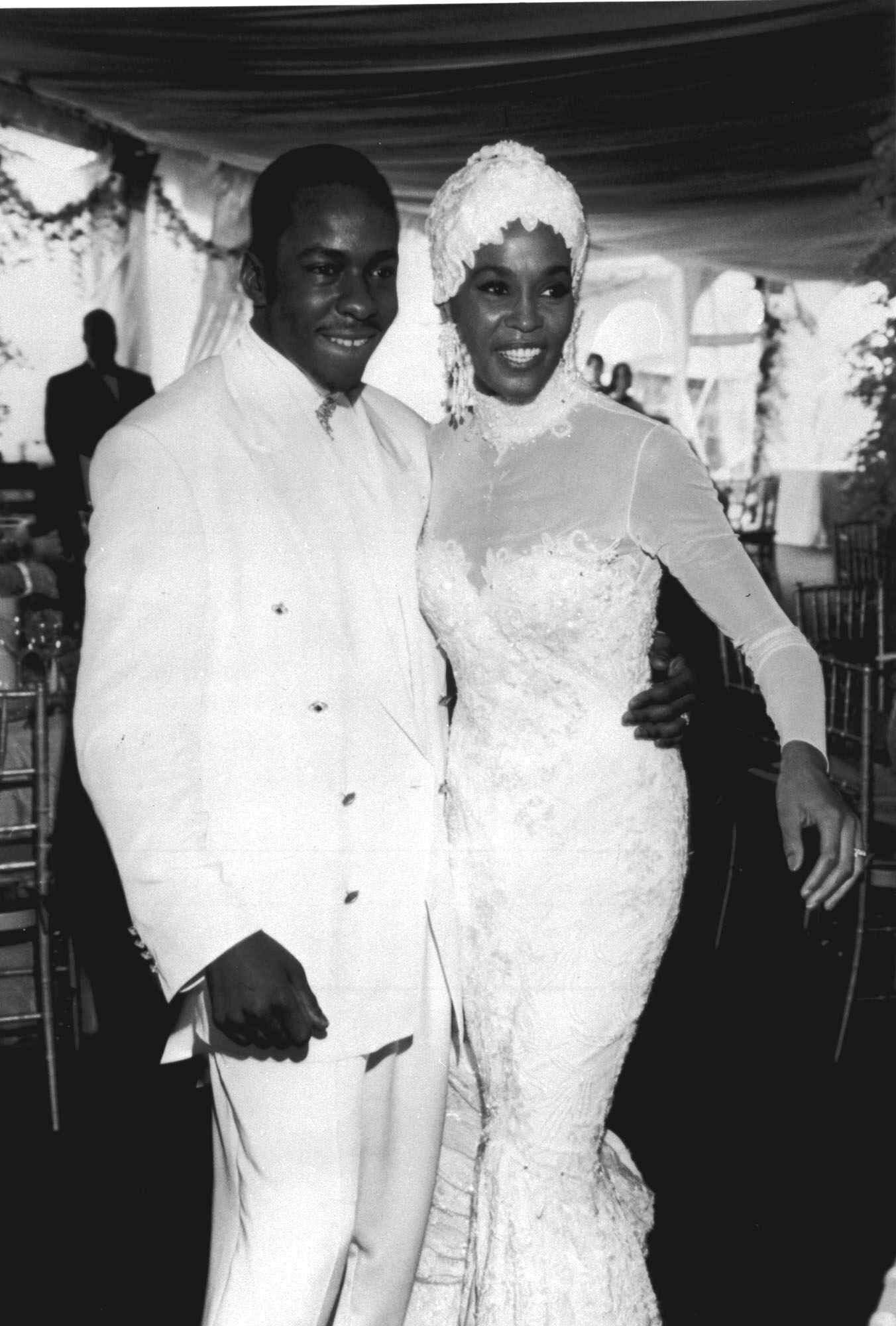 whitney houston wedding dress