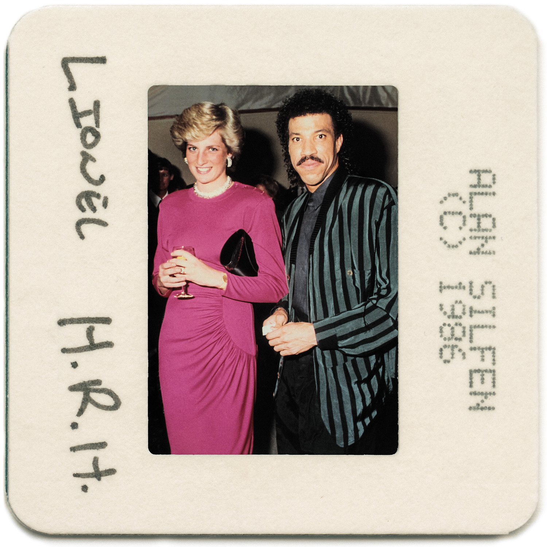 Lionel Richie Princess Diana 1986 by Alan Silfen
