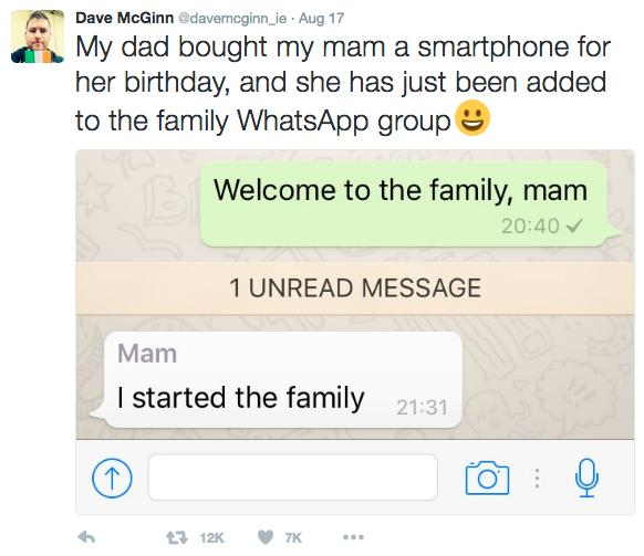 Irish Mam's Whatsapp