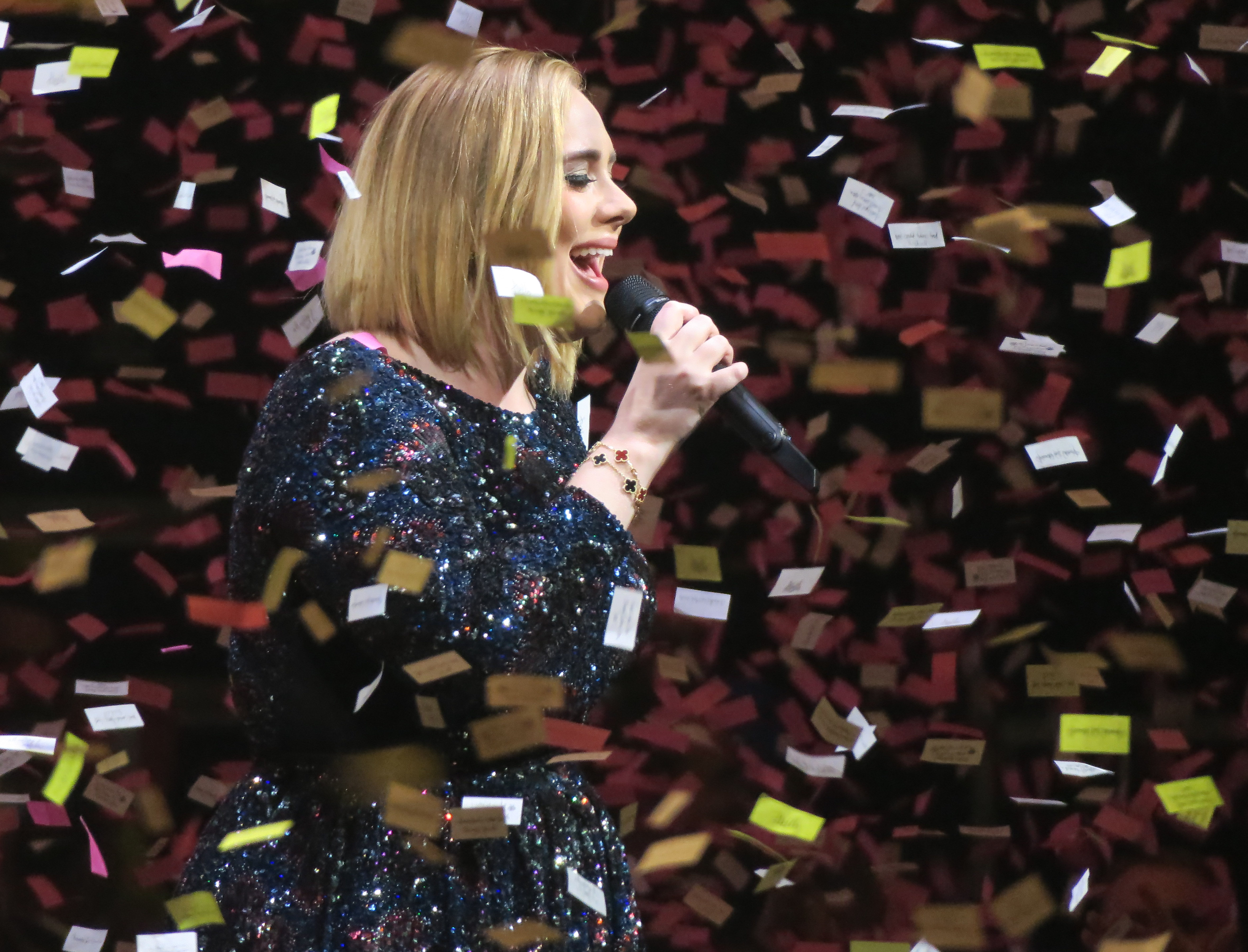 Adele and the confetti