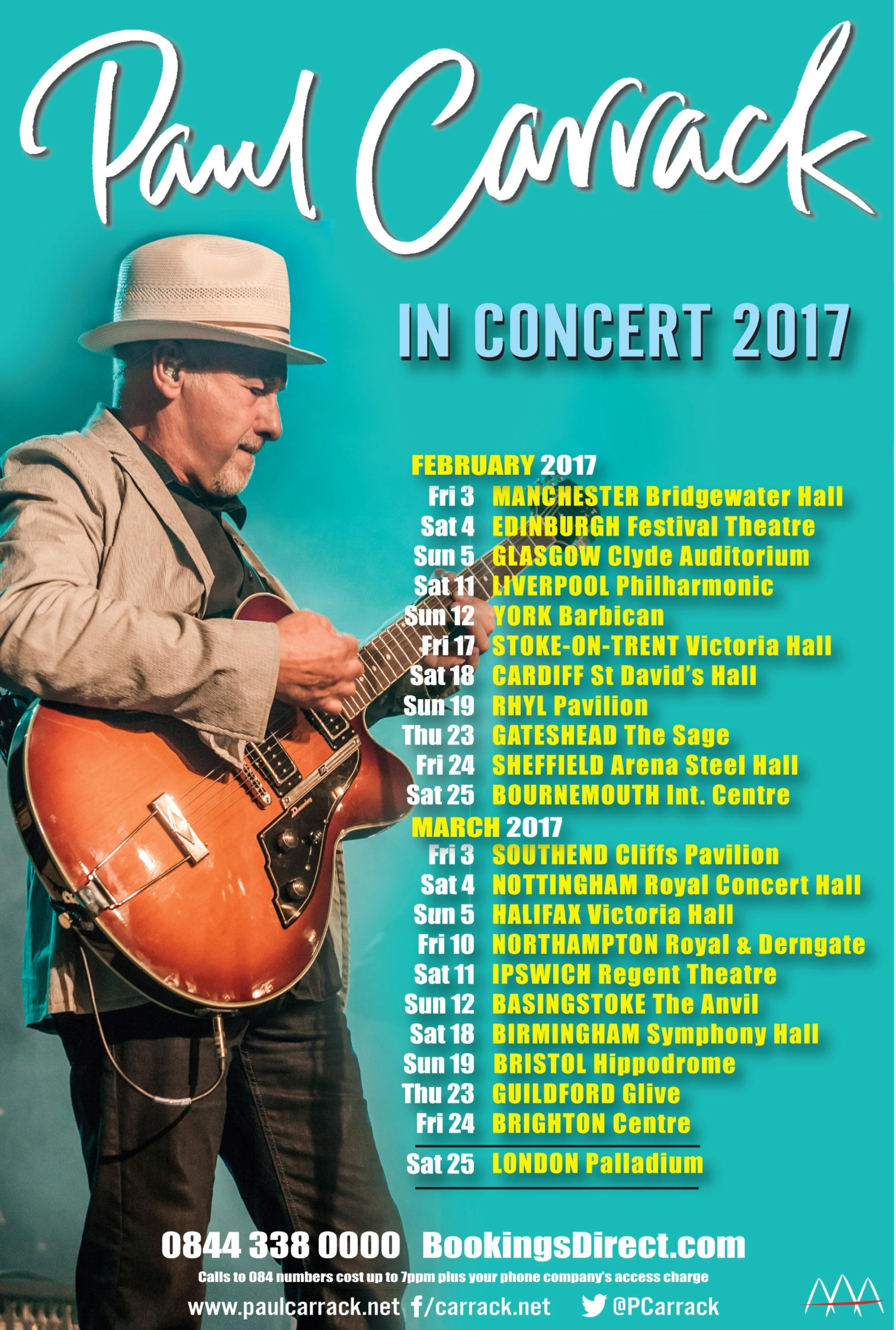 Paul Carrack tour 2017