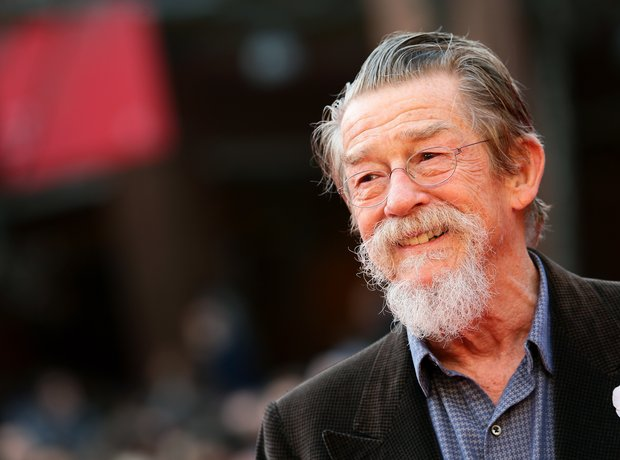 Sir John Hurt red carpet
