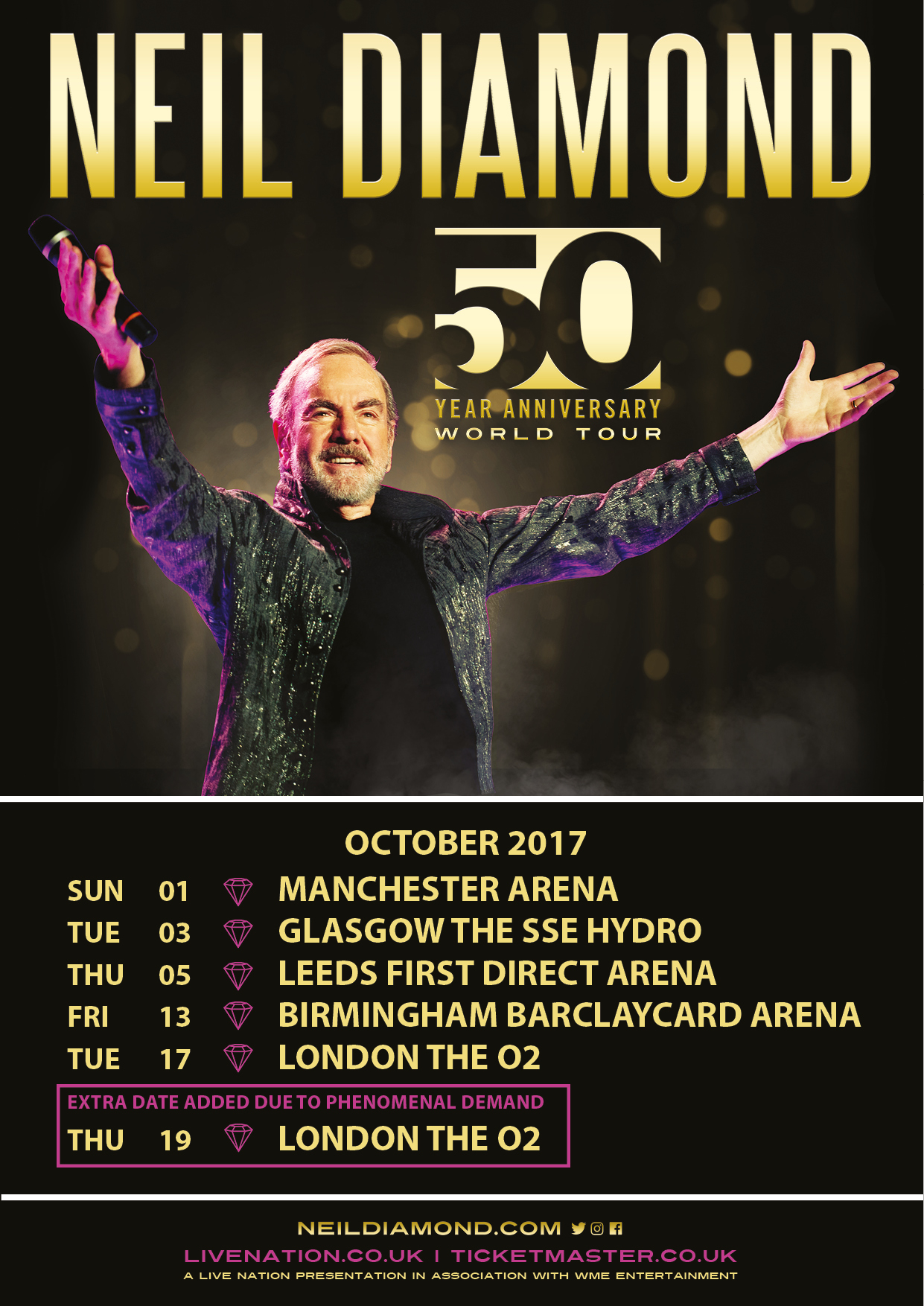 Neil Diamond Tour  London