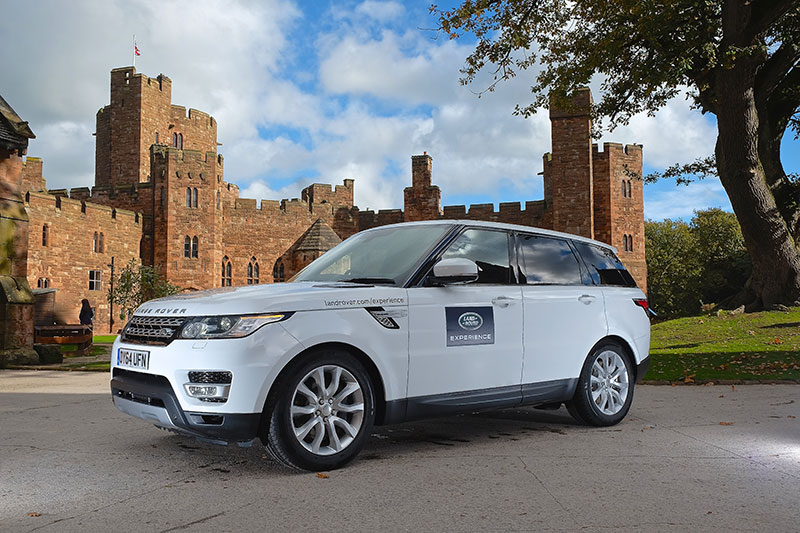 Land Rover at Peckforton Castle