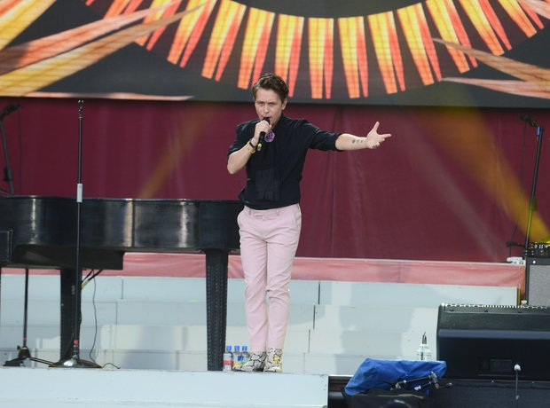 Mark Owen Take That live during One Love Mancheste