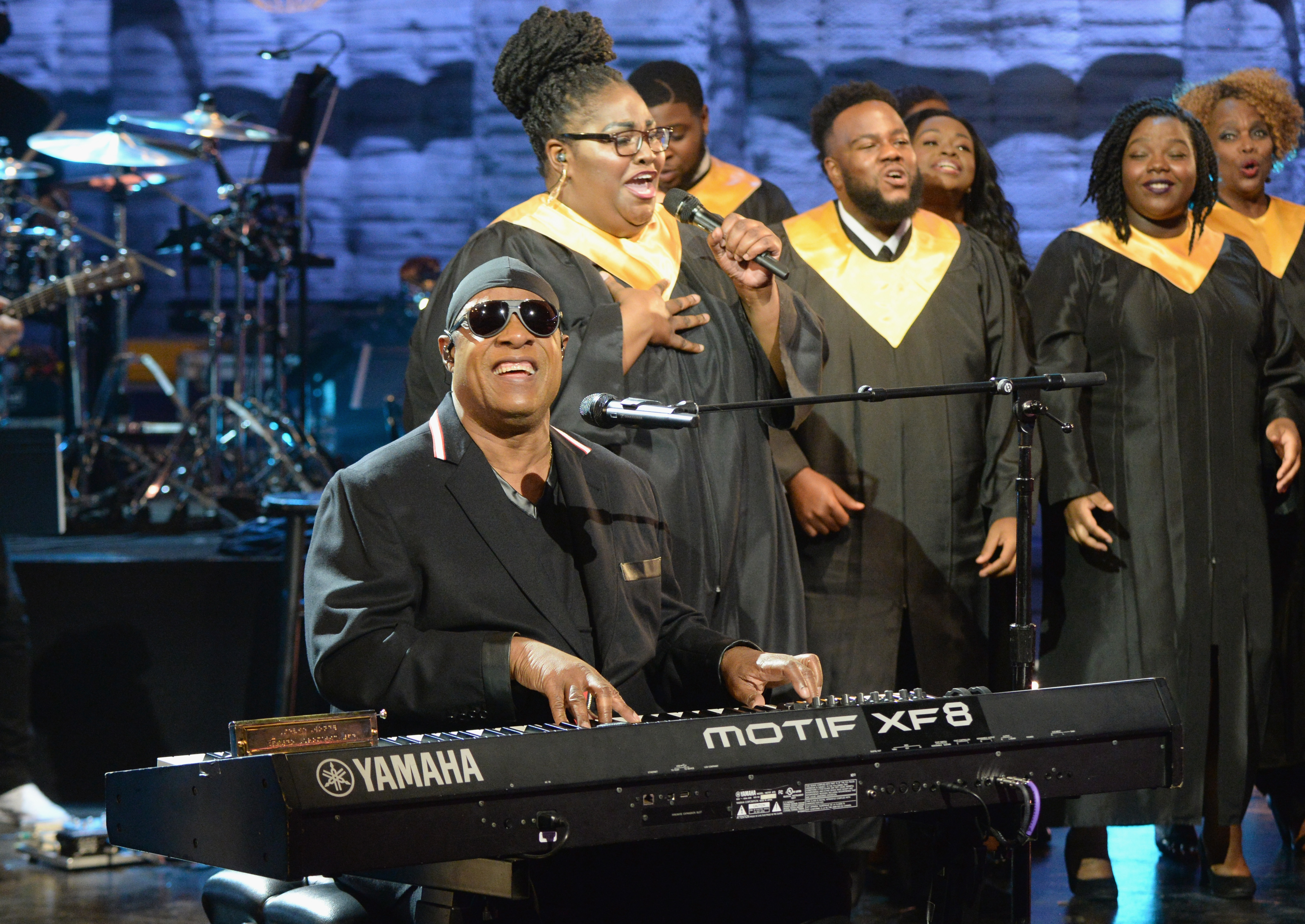 Stevie Wonder performs during Hand in Hand