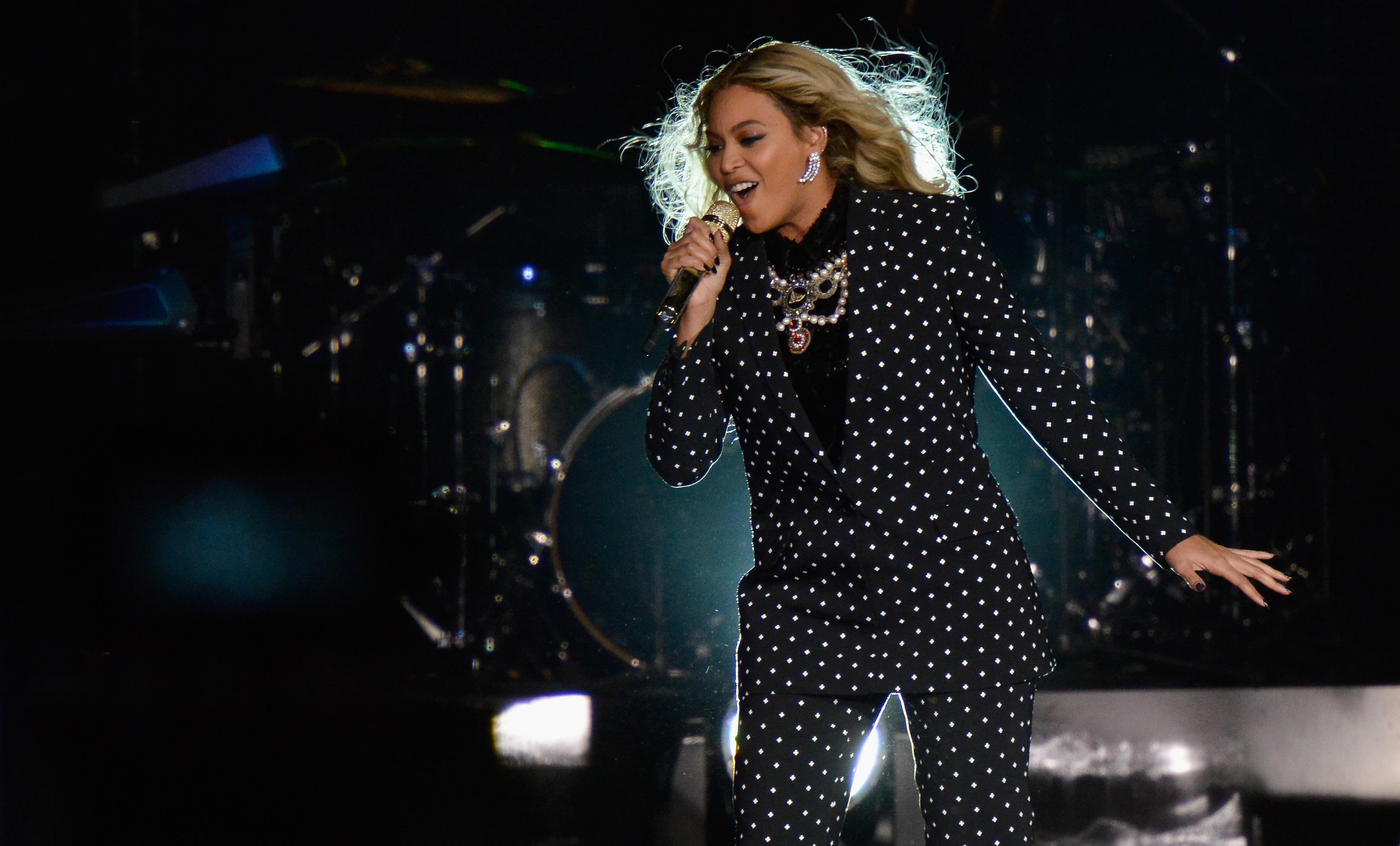 Beyonce performing