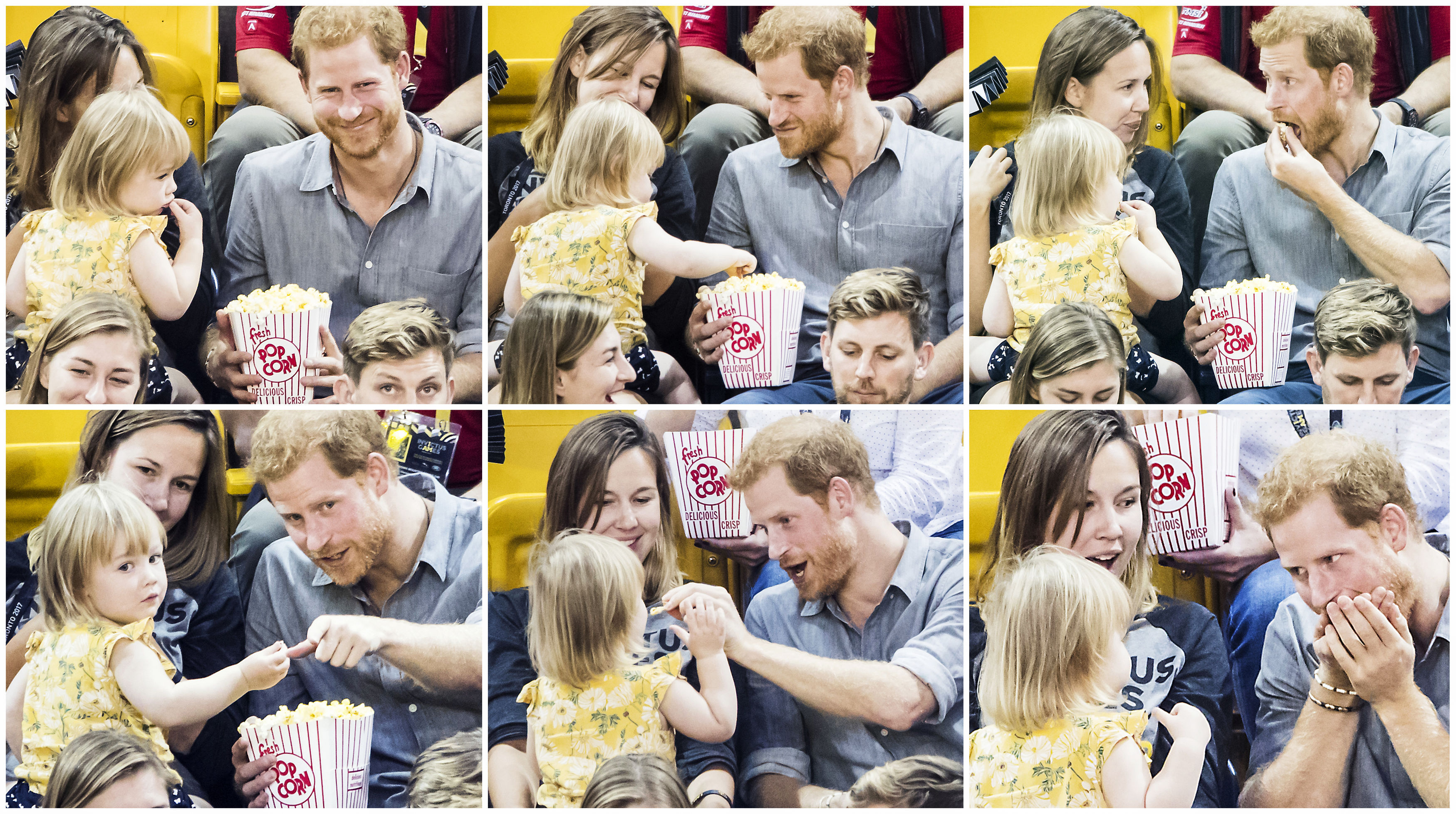 Prince Harry popcorn girl composite