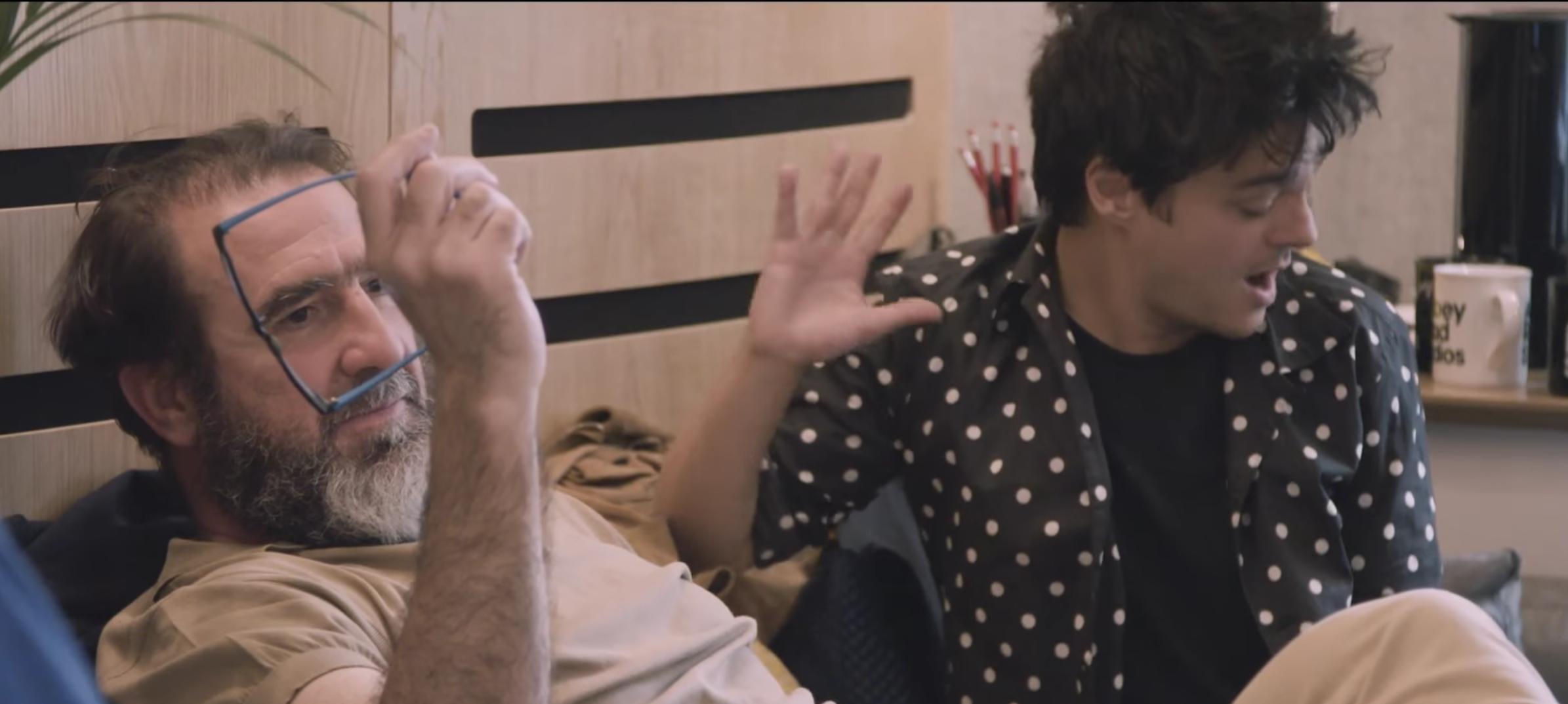 Eric Cantona and Jamie Cullum