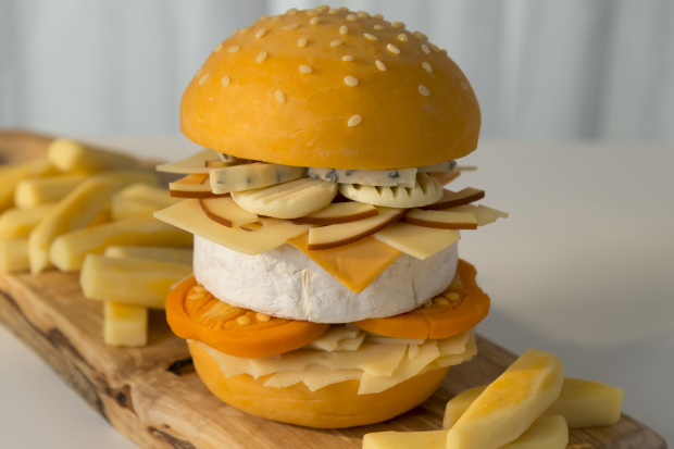 Christmas cheese burger