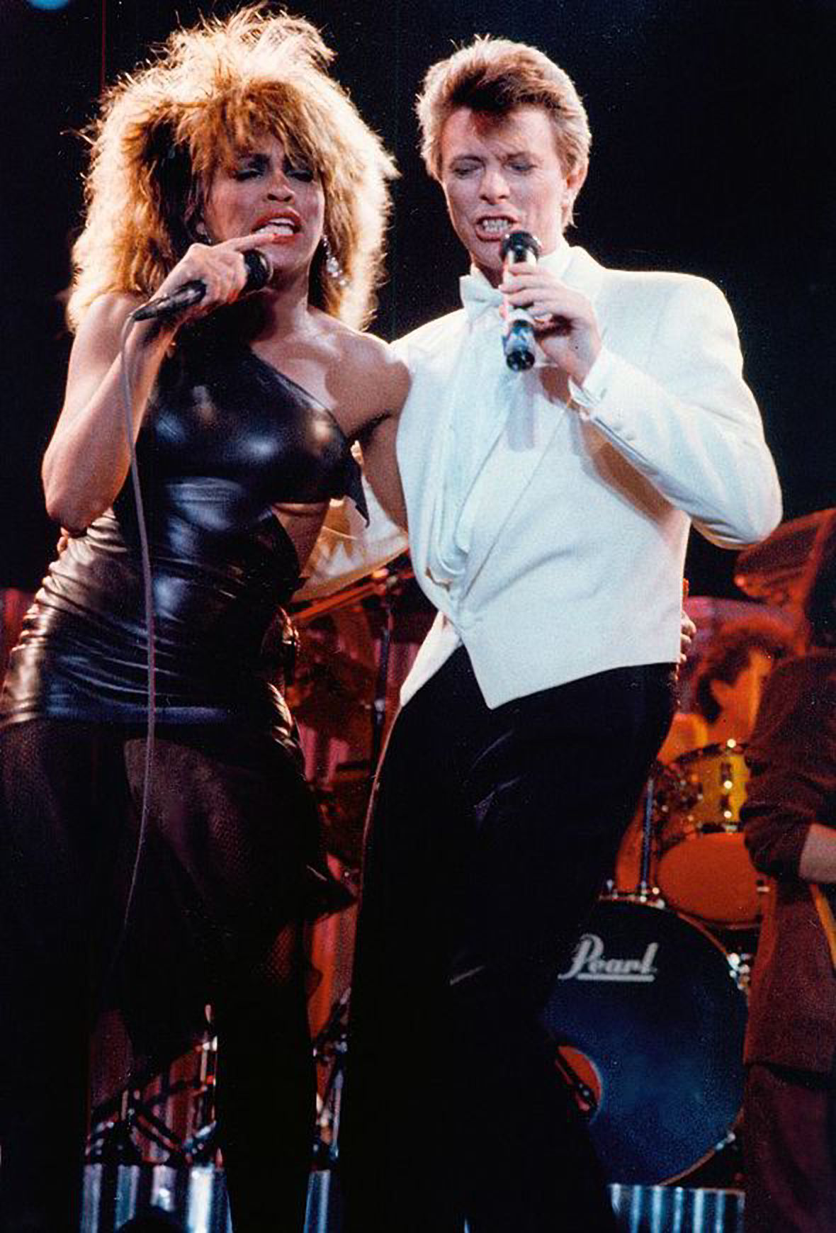 David Bowie and Tina Turner