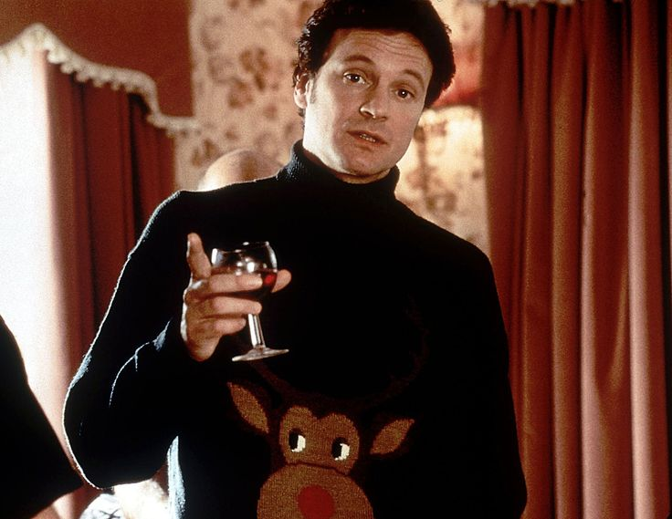 Colin Firth Christmas jumper