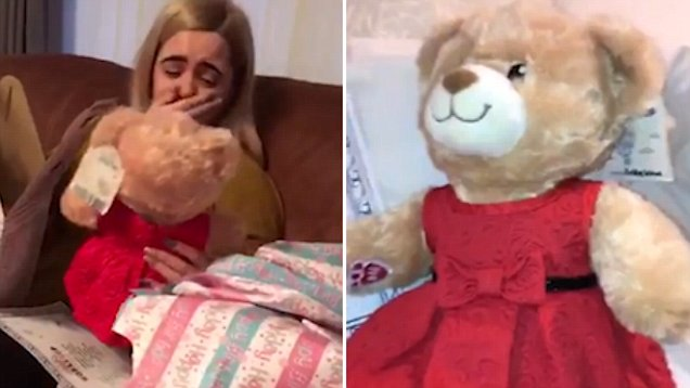 Girl hear's late grandma's voice in teddy bear