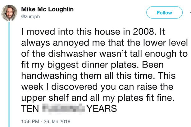 Dishwasher tweet