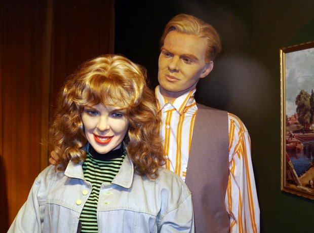 Kylie and Jason waxwork
