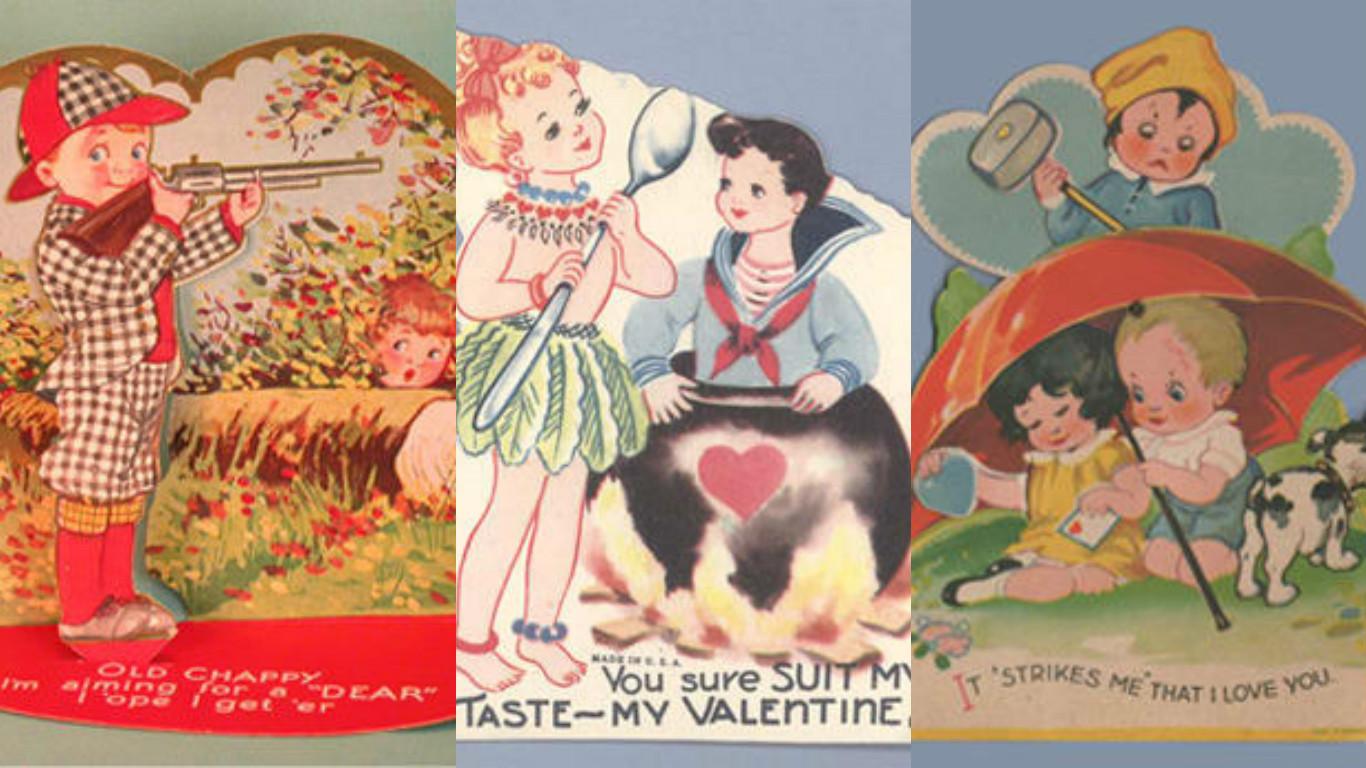 Creepy Valentines cards