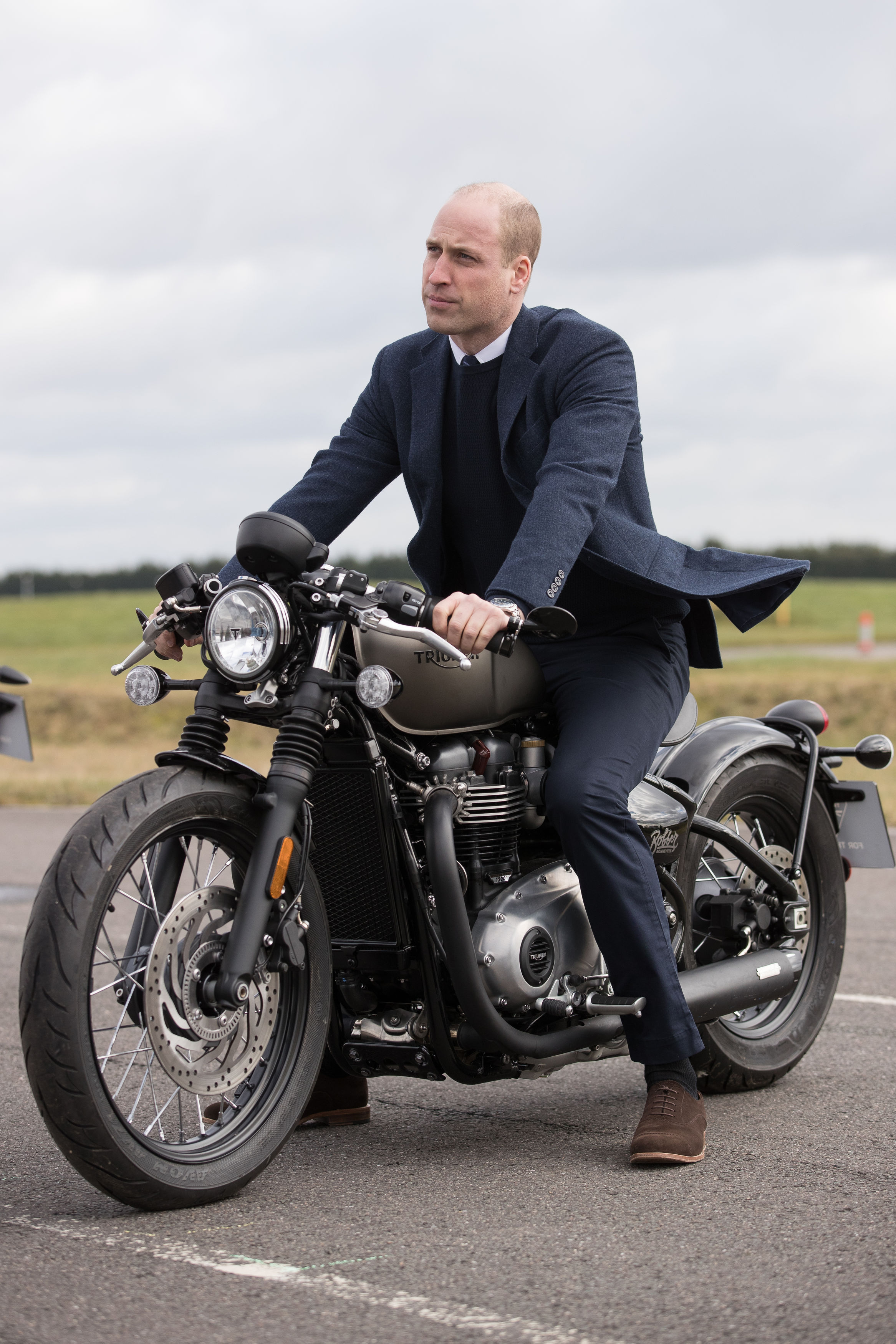 Prince William visits Triumph Motorcycles