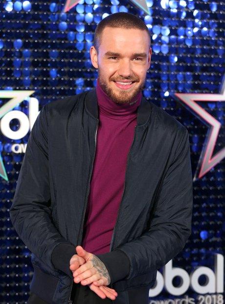Liam Payne Global Awards 2018 blue carpet