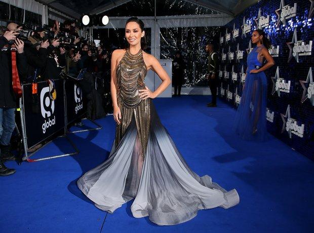 Myleene Klass a Global Awards 2018 blue carpet