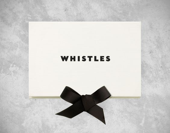 Whistles gift card