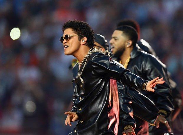 Bruno Mars at the Super Bowl