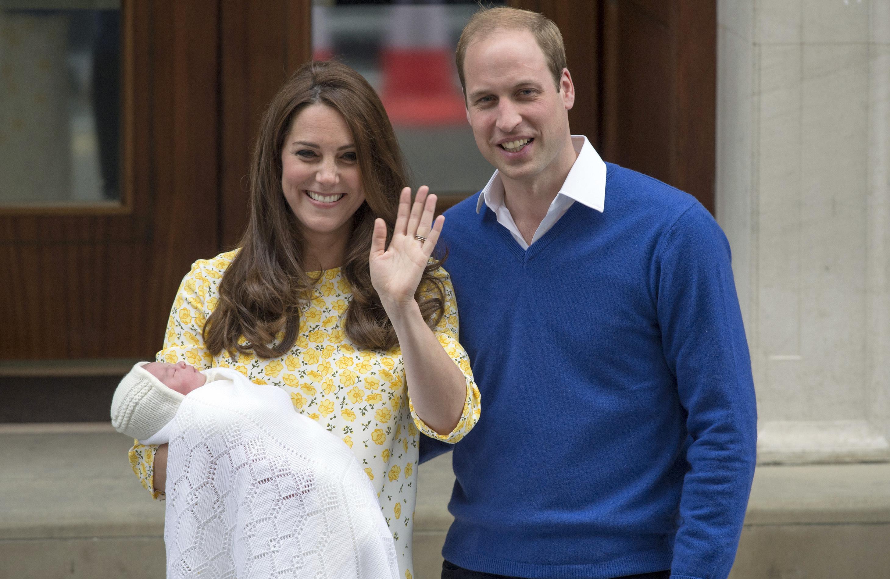 Kate Middleton, Prince William and Princess Charlo