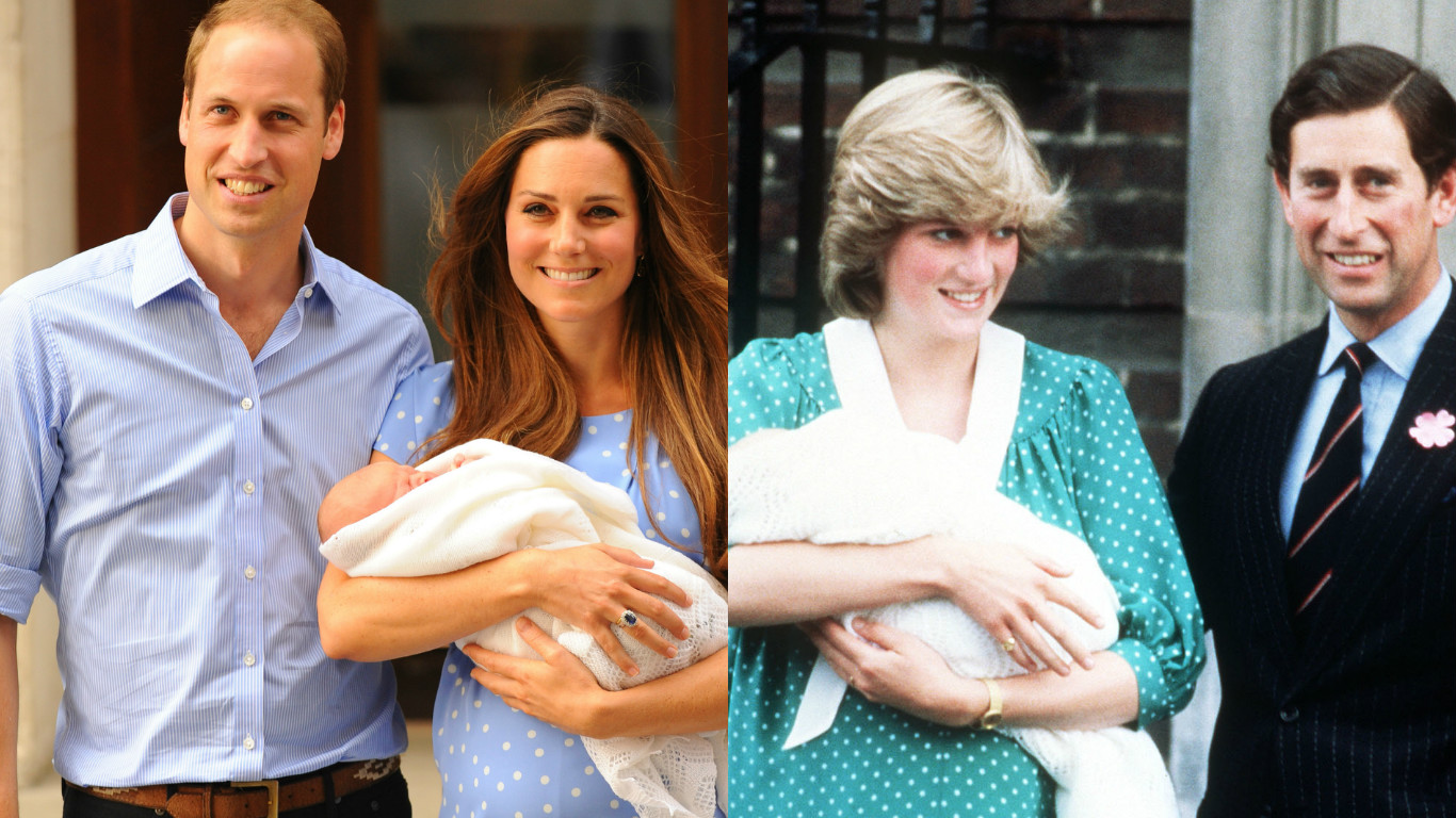 Princess Diana / Kate Middleton dress comparison