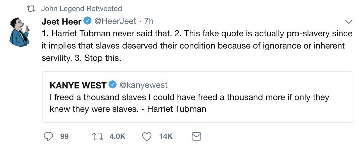 John Legend / Kanye West tweet