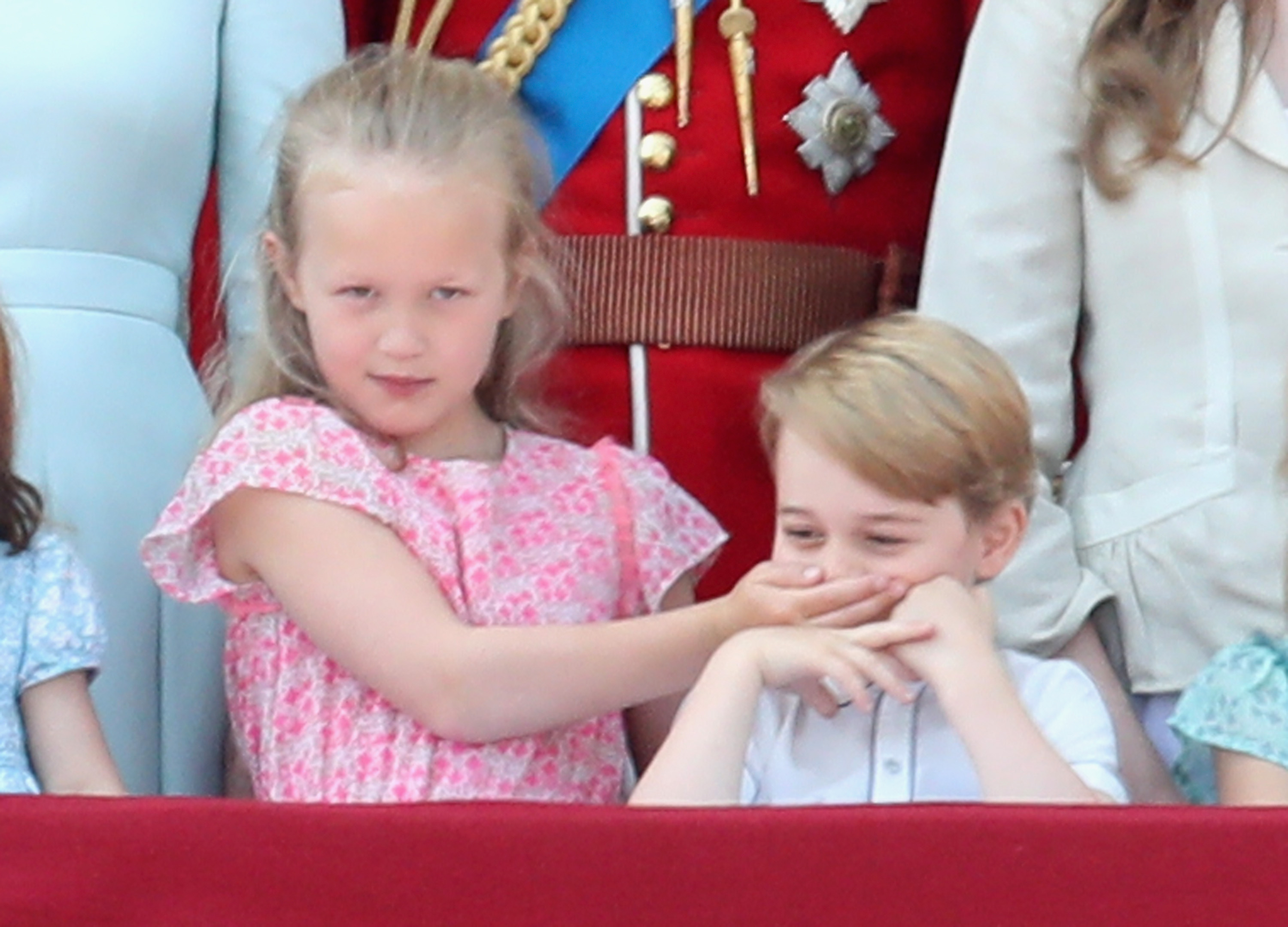 Prince George and Savannah Philips