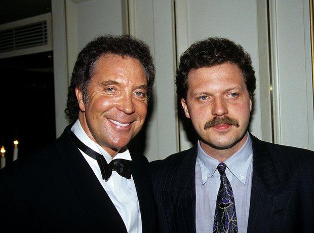 Tom Jones and son Mark