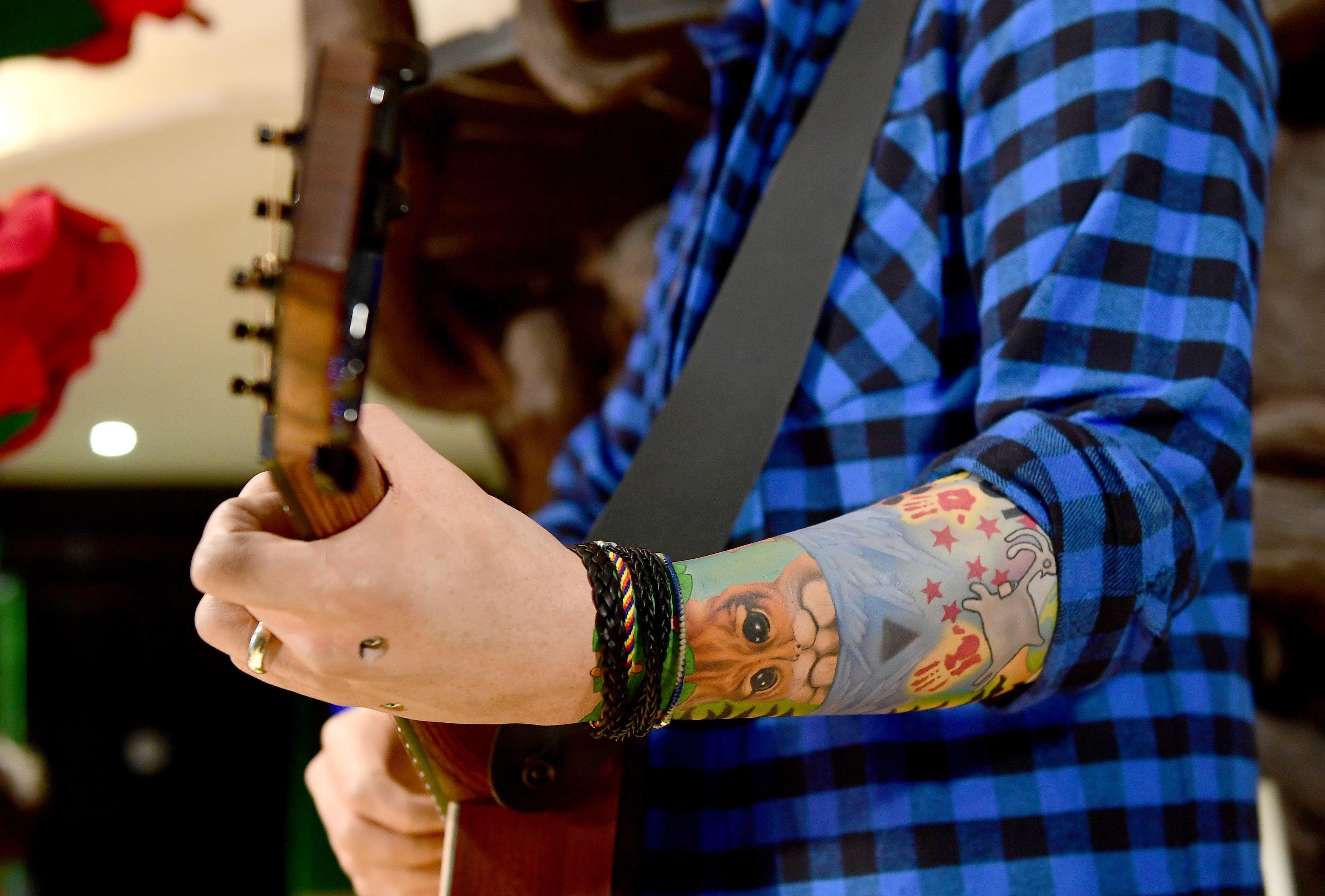 Ed Sheeran Madame Tussauds waxwork at Dinah's Cat