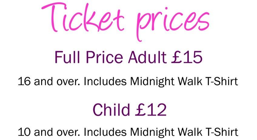 Midnight Walk Price List