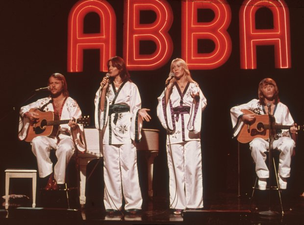 Abba all in white!