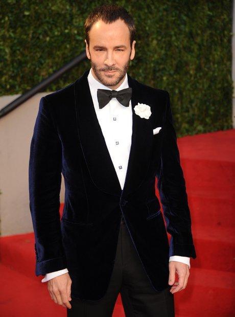 Designer Tom Ford arrives at the Vanity Fair Oscar