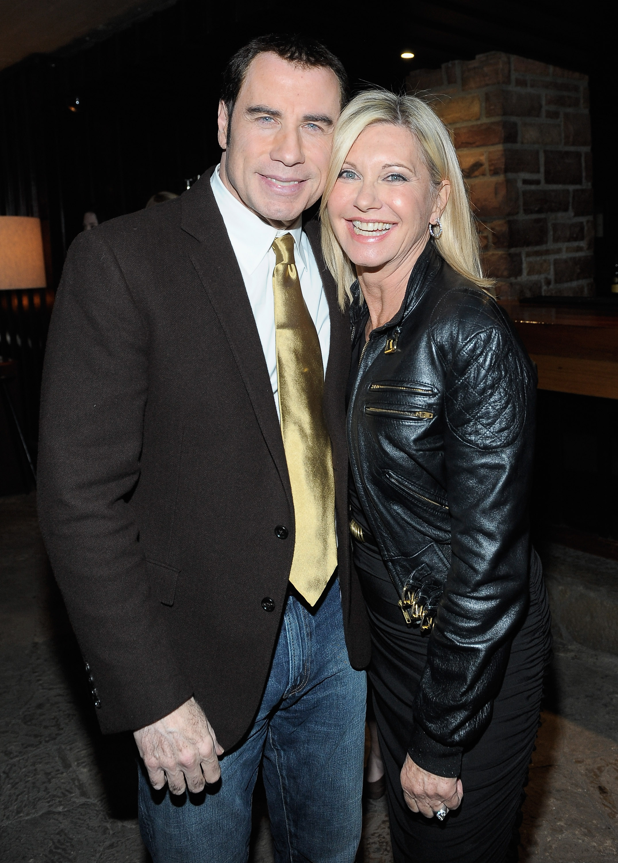 John Travolta and Olivia Newton John