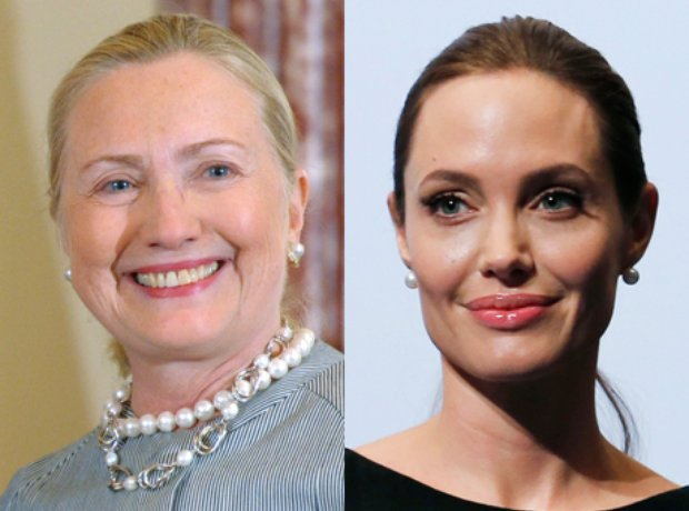 Hilary Clinton and Angelina Jolie