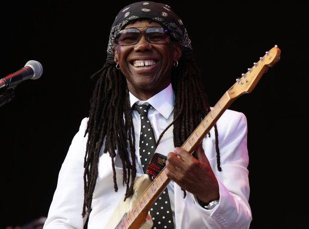 Nile Rodgers on stage