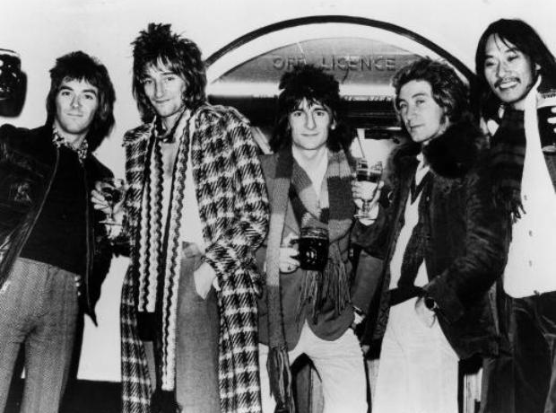 Rod Stewart and The Faces in 1972
