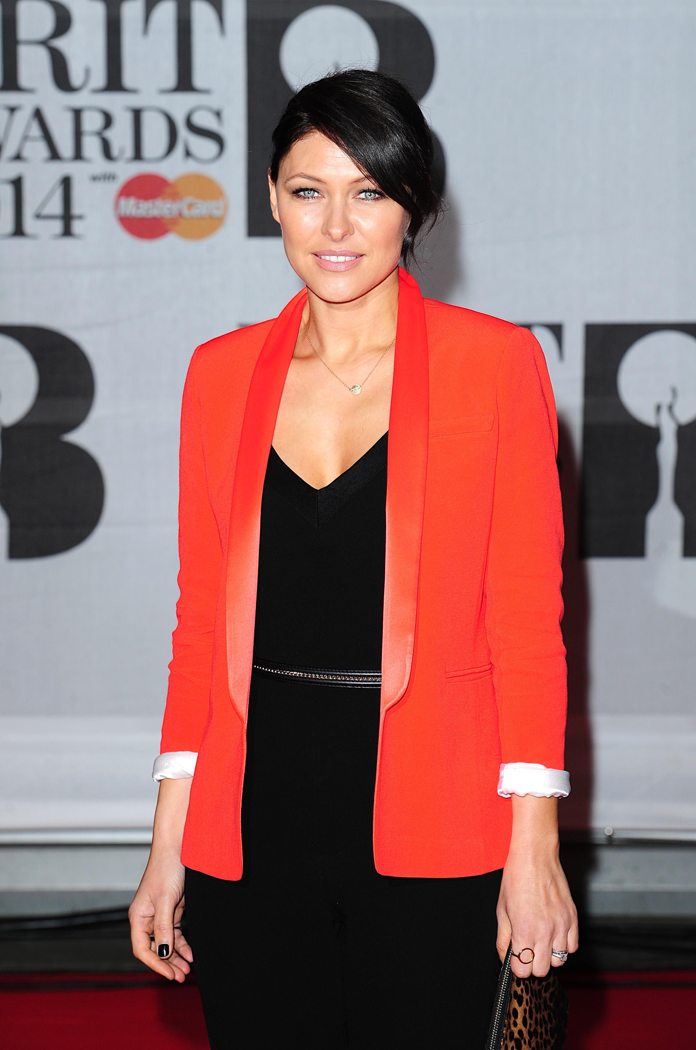 Emma Willis at the Brits Awards 2014