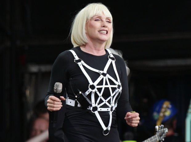 Debbie Harry of Blondie performing at Glastonbury