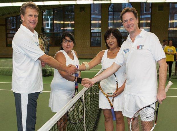 Nick Clegg Tennis Global Make Some Noise 2014