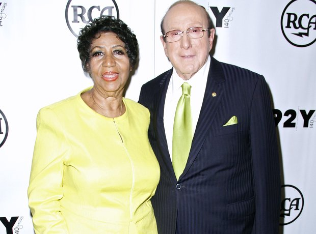 Aretha Franklin and producer Clive Davis
