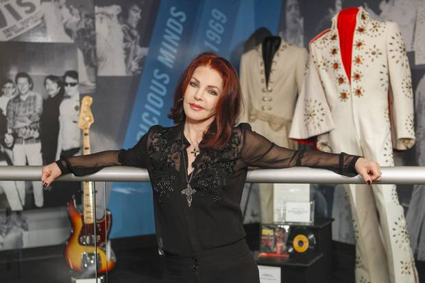 Priscilla Presley at the exhibition