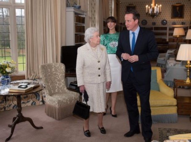 The Queen with David Cameron