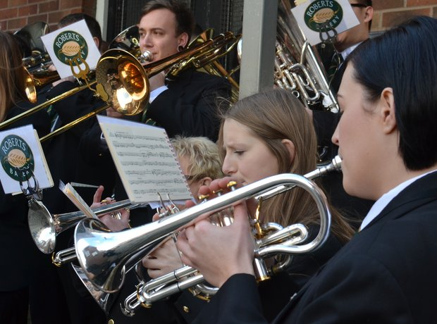 The Roberts Bakery Brass Band help Coronation Street get into the festive mood.