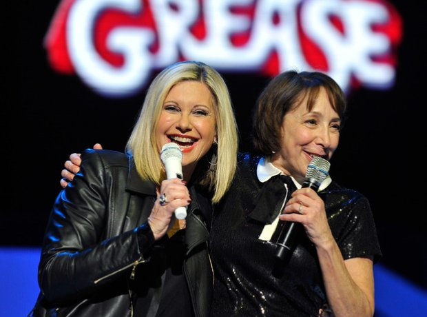 Olivia Newton-John and Didi Conn